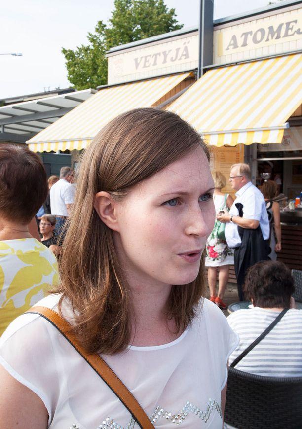 SDP:n varapuheenjohtaja Sanna Marin.