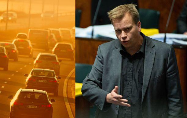Antti Kaikkonen ei pidä ilmastotyöryhmän ehdottamia toimenpiteitä liikenteen päästöjen hillitsemiseksi järkevinä.