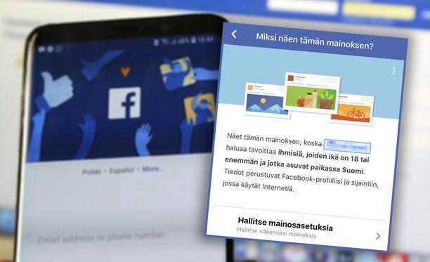 Facebook-mainoksista saa pian lisätietoa.