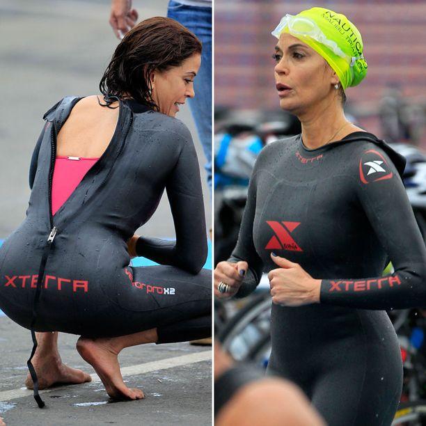 Teri suoritti triathlonista uintiosuuden.