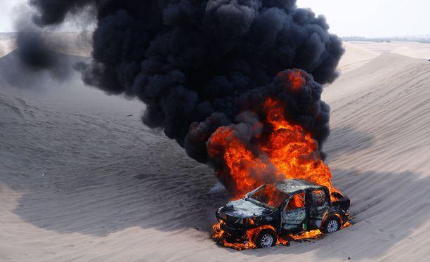 Argentiinalaisen Alicia Reinan Dakar-ralli päättyi jo kolmannella etapilla.