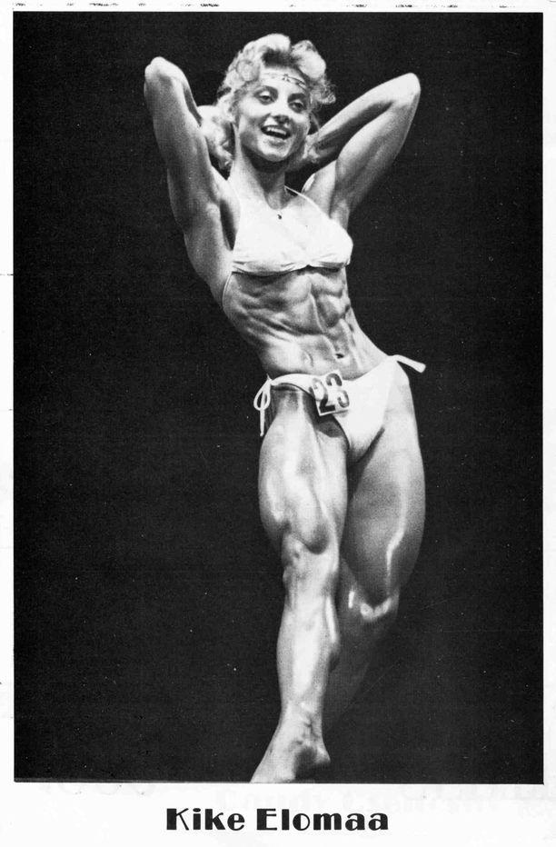 Ritva Elomaa menestyi 1980-luvun alussa kehonrakennuksessa.