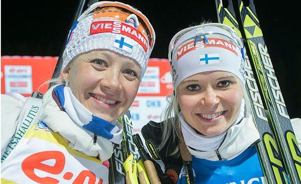 Kaisa Mäkäräinen ja Mari Laukkanen ovat olleet Oberhofissa hyvässä hiihtovauhdissa.