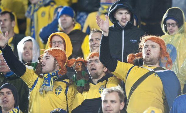Ruotsin fanit hihkuvat vuoden päästä uudella stadionilla.
