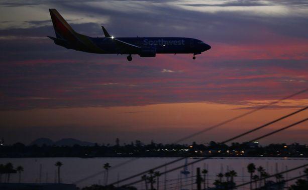 Erikoinen tapaus sattui Southwest Airlinesin koneessa.