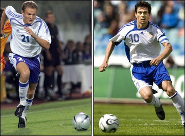 SEURAKAVERIT Jonatan Johansson ja Jari Litmanen pelaavat nyt myös seuratasolla samassa joukkueessa.