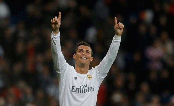 Cristiano Ronaldo juhli suurvoittoa Espanyolista.