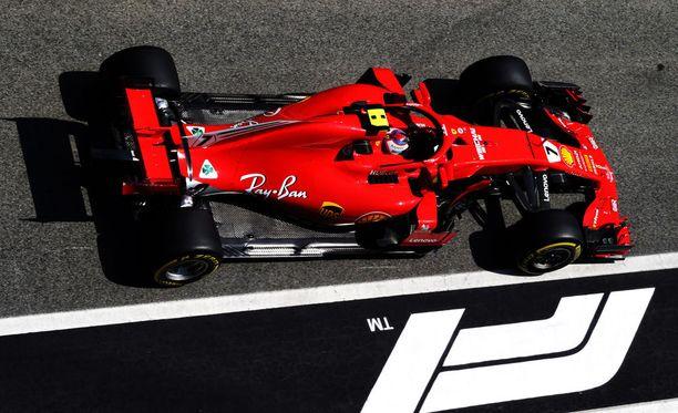 Kimi Räikkönen sai aika-ajoon uuden voimayksikön.