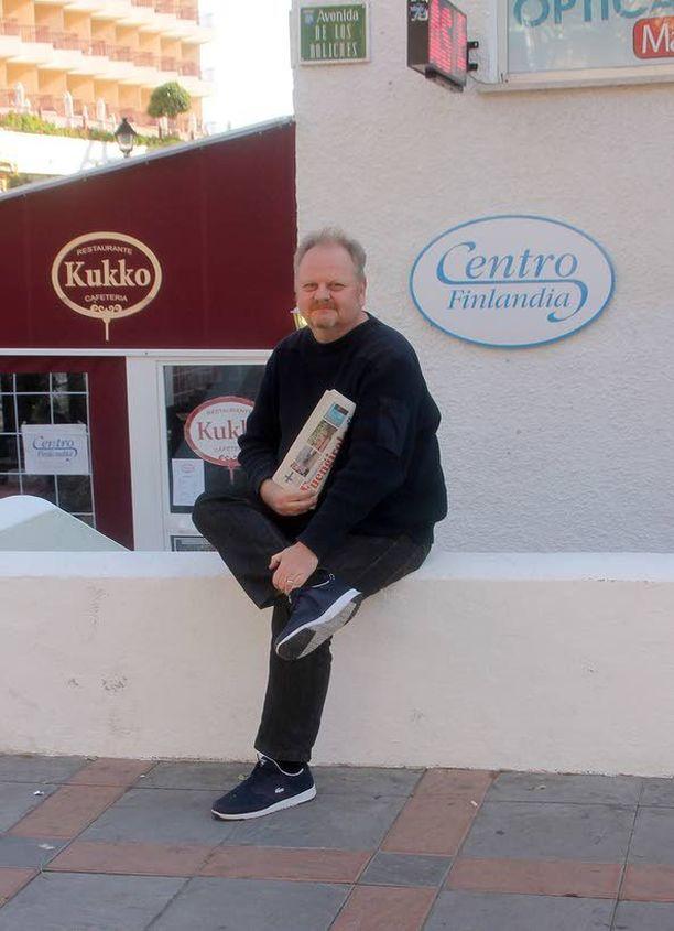 """Antti """"Pizza"""" Pekkarinen nauttii nykyään elämästä Espanjan aurinkoisissa maisemissa."""
