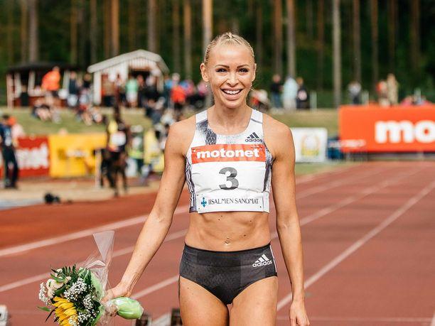 Annimari Korte teki 100 metrin aitojen Suomen ennätyksenä tällä viikolla.