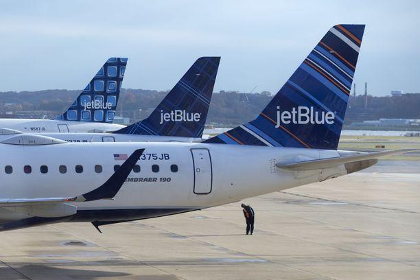 Tapaus sattui Jet Bluen koneessa, joka oli lähdössä Las Vegasiin. Arkistokuva.