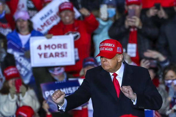 Trump kampanjoi vaalien alla ahkerasti. Kuva Georgiasta.