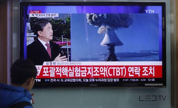 Pohjois-Korea väittää räjäyttäneensä vetypommin, mutta siitä ei toistaiseksi ole varmuutta.