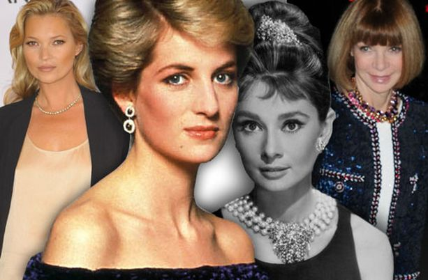 Kate Moss, prinsessa Diana, Audrey Hepburn ja Anna Wintour ovat sadan tärkeimmän tyyli-ikonin joukossa.