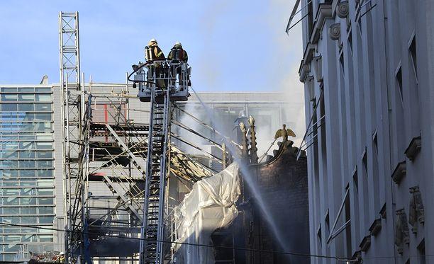 Tulipalo syttyi Tukholman keskustassa.
