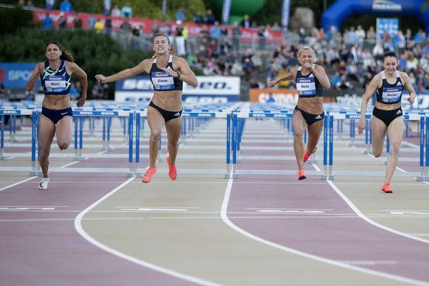 Turun Paavo Nurmi Gamesissa tiistaina naisten pika-aidat juostiin etusuoralla, koska sen myötä urheilijat saivat myötätuulen.