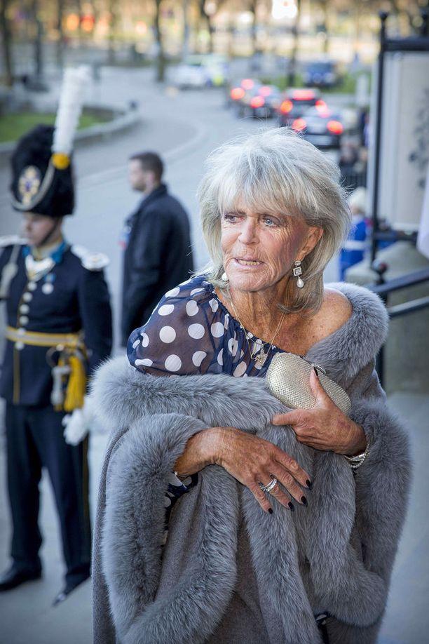 Keväällä 2016 Birgitta edusti tutussa turkistyylissään kuninkaan 70-vuotisjuhlallisuuksilla.