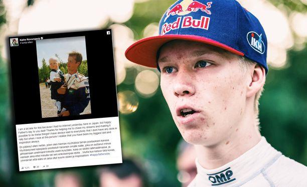 """Kalle Rovanperä kirjoitti, ettei hänellä ole """"sen erikoisempaa idolia"""" - paitsi oma isä."""