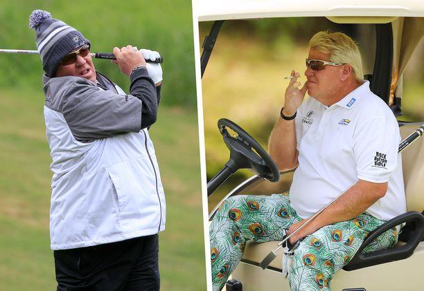 John Daly on usein nähty golfkentällä tupakka suussa.