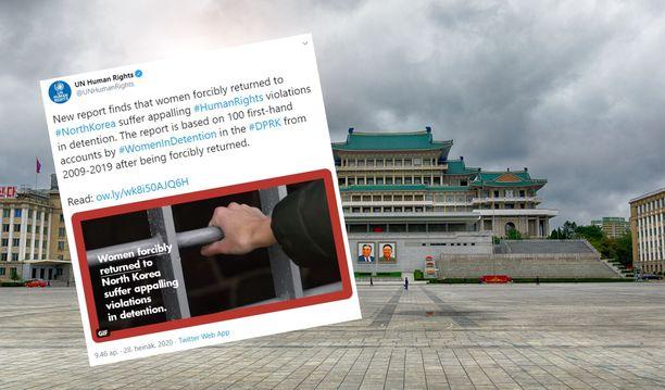 YK:n julkaiseman raportin mukaan naiset kokevat kammottavia ihmisoikeusrikkomuksia Pohjois-Korean vankileireillä.