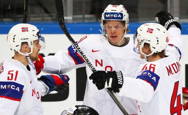 Norja juhli 3-1-voittoa Latviasta.