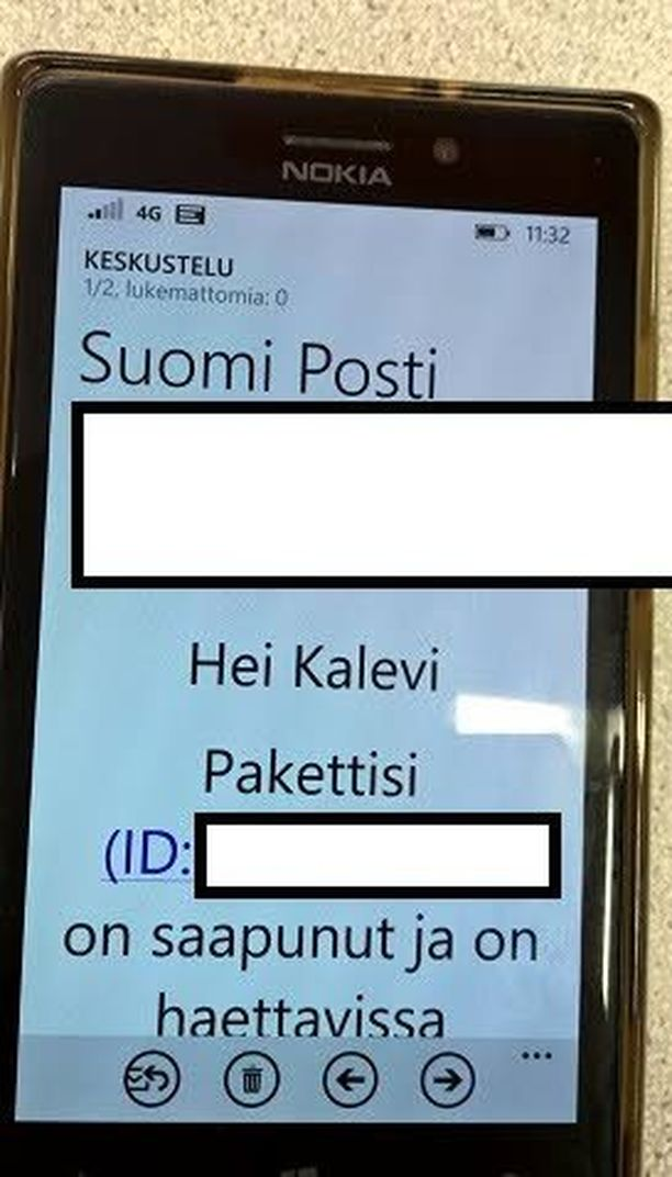 Posti kehottaa tuhoamaan tällaiset huijauspostit.