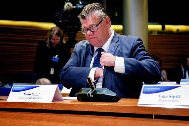Timo Soini Suurlähettiläispäivillä vuoden 2017 elokuussa.