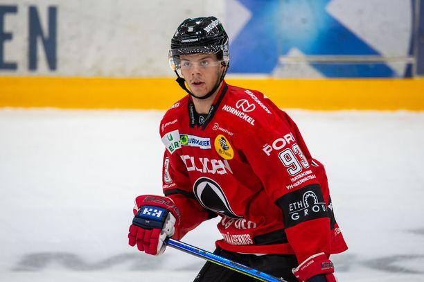 Jesperi Kotkaniemen pistetili on tällä kaudella avaamatta.