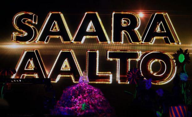 Saara liikuttui X Factorin finaalissa.