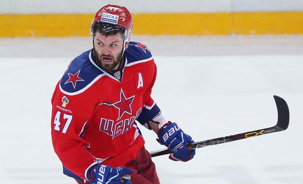 Aleksandr Radulov viihdytti viime kaudella Moskovan TsSKA:n riveissä.