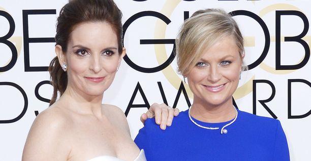 Tina Fey ja Amy Poehler juontavat yhdessä Golden Globe -gaalan.