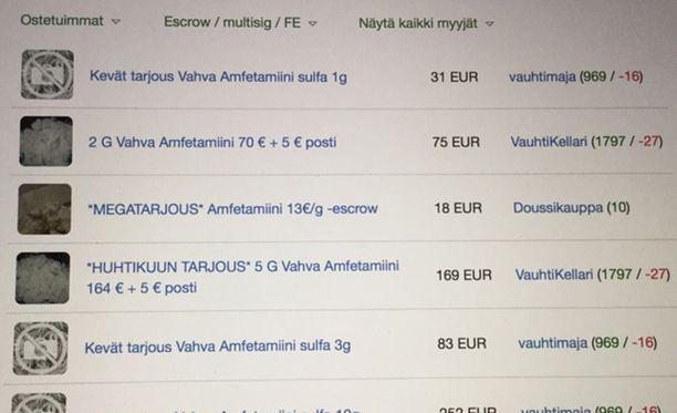 Internetin varjoissa myydään kovia huumeita metritavarana.