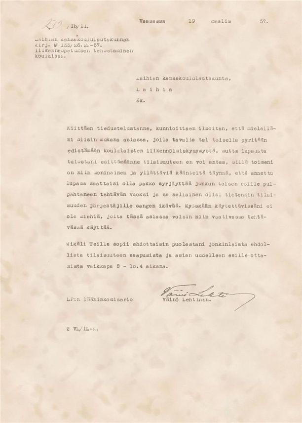 Vanha kirje julkaistiin osana 100 tarinaa turvaajista -kampanjaa.