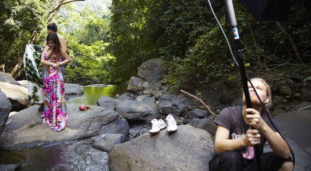 Kuvausmatka oli Annan ensikosketus Aasian eksoottisiin maisemiin.