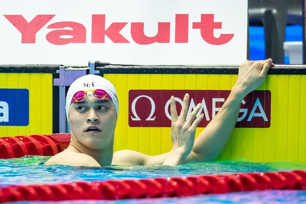 Sun Yang from China during Men's 400m Freestyle Finals