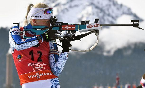 Kaisa Mäkäräinen voitti uransa kuudennen MM-mitalin.