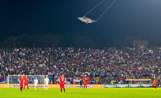 Lennokki Belgradin yllä: tästä kaikki lähti käyntiin.