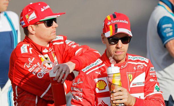 Kimi Räikkönen ja Sebastian Vettel valmistautuvat neljänteen kauteensa tallikavereina.