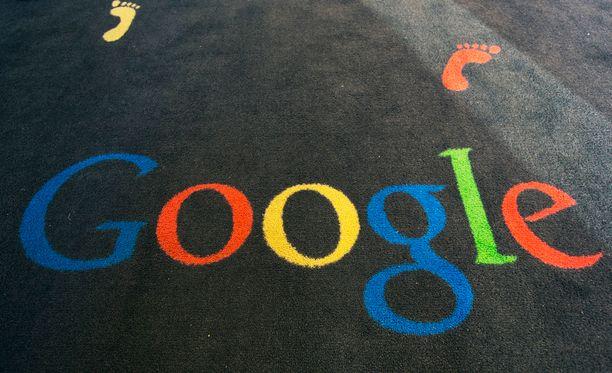 Googlen logo yhtiön Pariisin kulttuurikeskuksessa.