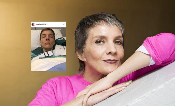 Maria Veitola on ollut olkapääleikkauksessa.