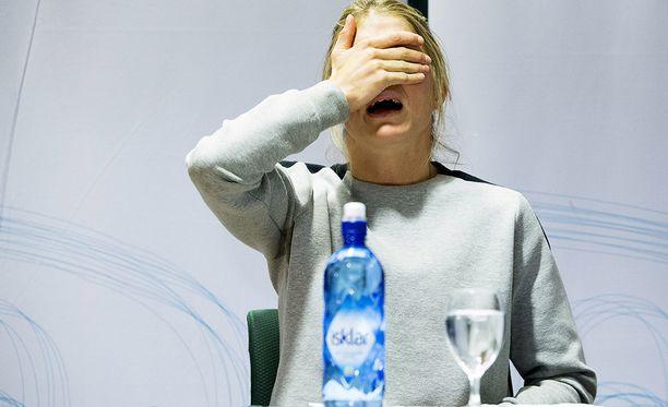 Therese Johaug järkyttyi kohtalostaan. Kuva viime vuodelta.