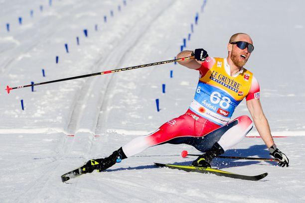 Martin Johnsrud Sundby otti toistaiseksi uransa ainoan henkilökohtaisen arvokisavoiton 15 kilometrin perinteissä kisassa Seefeldissä viime vuonna.