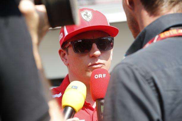 Kimi Räikkönen oli haluttu haastateltava Meksikon GP-viikonlopun mediapäivänä.