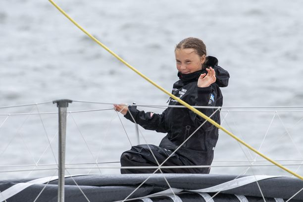 Greta Thunberg saapui purjeveneellä New Yorkiin 28. elokuuta osallistuakseen YK:n ilmastohuippukokoukseen.