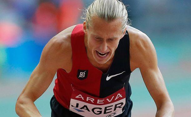 Evan Jagerin huippujuoksu kaatui kirjaimmellisesti viimeiseen esteeseen.