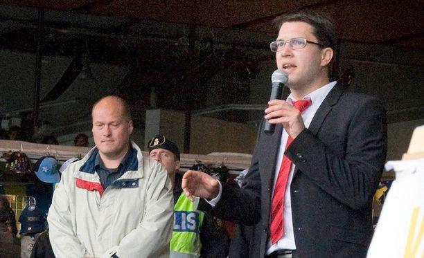 Jimmie Åkesson on johtanut puoluettaan lähes kymmenen vuotta.