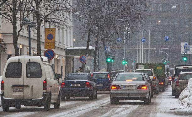 Ajokeli on huono Etelä- ja Keski-Suomessa.
