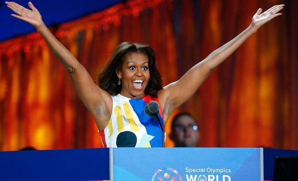 Michelle Obama avasi Special Olympics -kisat.
