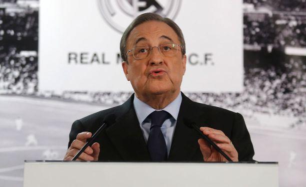 Florentino Pérez vaalii julkisuuskuvaansa.