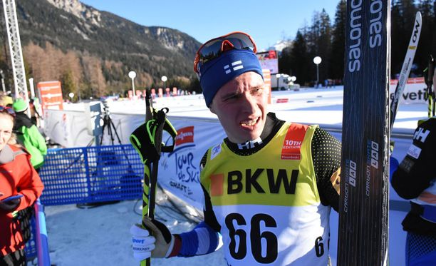Matti Heikkinen oli viidenneksi viimeinen Tour de Skin avauksessa.